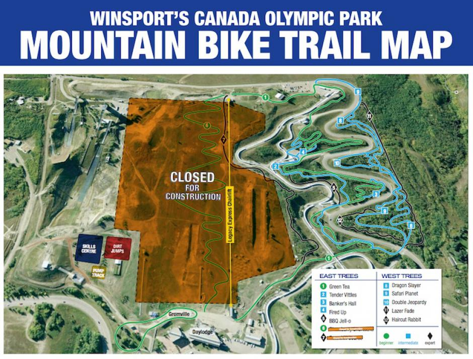 Canada Olympic Park Trail Map