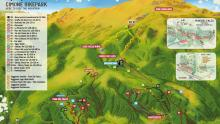 Cimone Bikepark Trail map